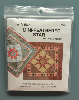 Mini Feathered Star V267 Tissue Paper Foundation Quilt