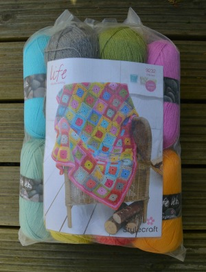 Stylecraft Life Dk Crochet Blanket Kit Including Free