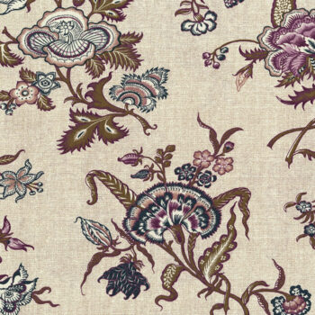 Meadow-Coffee Forget Me Not 3000-002 By Audrey Wright For RJR Fabrics